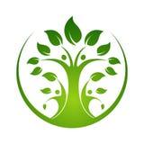 illustration för mall för design för logo för stamträdsymbolsymbol stock illustrationer