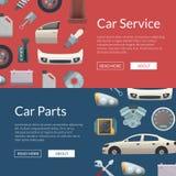 Illustration för mallar för baner för rengöringsduk för vektorbildelar stock illustrationer