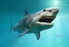 Illustration för Megalodon plats 3D royaltyfri illustrationer