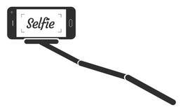 Illustration för Monopod Selfie ståendeSmartphone App vektor Royaltyfri Foto