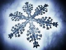 Illustration för närbild 3D av en snöflinga Royaltyfri Foto