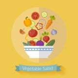 Illustration för nya grönsaker för vektor med plana symboler Arkivbild