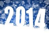 illustration för nytt år 2014 Arkivfoton