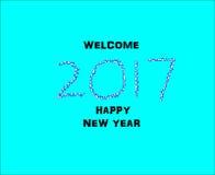 Illustration för nytt år Arkivfoto