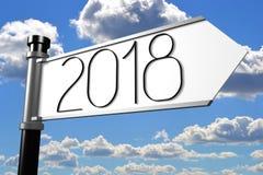illustration för nytt år 3D 2018 Arkivbild
