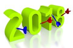 illustration för nytt år 3D 2018 Fotografering för Bildbyråer