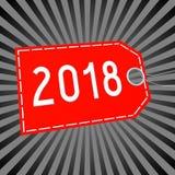 illustration för nytt år 3D 2018 Royaltyfria Bilder