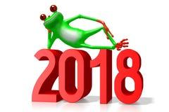 illustration för nytt år 3D 2018 Royaltyfri Bild