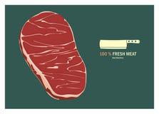 Illustration för nytt kött Vektor Illustrationer