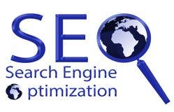Illustration för optimization för SEO-sökandemotor Stock Illustrationer