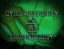 Illustration för ordningsvakt 3d för Cybersecurity teknologi high tech stock illustrationer