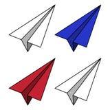 Illustration för pappers- flygplan vektor illustrationer