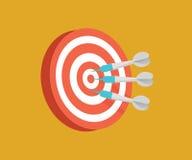Illustration för pilmålvektor Begreppsmässig illustration för konkurrens Arkivfoto