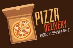 Illustration för pizzaaskvektor royaltyfri illustrationer