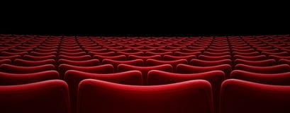 Illustration för platser 3d för filmbiograf röd royaltyfria foton