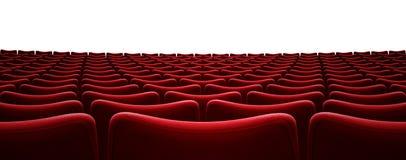 Illustration för platser 3d för filmbiograf som röd isoleras på vit vektor illustrationer