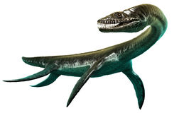 Illustration för Plesiosaurus 3D Royaltyfri Foto