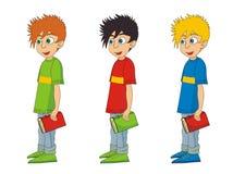 Illustration för pojketecknad filmvektor Arkivbild