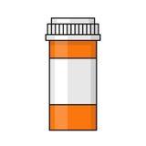 Illustration för preventivpillerflaska Royaltyfria Foton