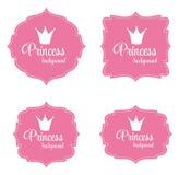 Illustration för prinsessa Crown Frame Vector Royaltyfri Bild