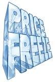 Illustration för prisfrysningförsäljning Fotografering för Bildbyråer