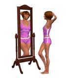 Illustration för problem för anorexiviktledning Royaltyfri Bild