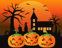 Illustration för pumpor för lykta för Halloween stålar O Royaltyfria Bilder