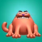 Illustration för röd jäkel 3D för katt Fotografering för Bildbyråer