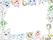Illustration för ram för barnteckningsbakgrund Royaltyfri Fotografi