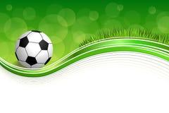 Illustration för ram för boll för fotboll för fotboll för grönt gräs för bakgrund abstrakt Royaltyfria Bilder