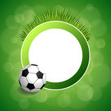 Illustration för ram för cirkel för boll för fotboll för fotboll för bakgrundsabstrakt begreppgräsplan Fotografering för Bildbyråer