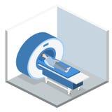 Illustration för rengöringsduk för mri för isometriskt begreppssjukhus för lägenhet 3D medicinsk Arkivfoto