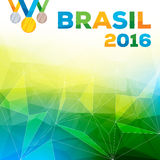 Illustration 2016 för Rio de Janeiro Brasilien bakgrundsvektor Arkivbilder
