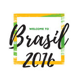 Illustration 2016 för Rio de Janeiro Brasilien bakgrundsvektor Royaltyfri Foto