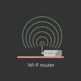 illustration för router Wi-fi Stock Illustrationer