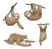 Illustration 2 för sengångaretecknad filmvektor royaltyfri illustrationer