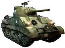 Illustration för Sherman behållare 3D Royaltyfria Foton