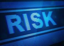 Illustration för skärm 3d för risk digital stock illustrationer
