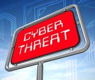 Illustration för skydd 3d för Cyberhotintelligens online- royaltyfri illustrationer