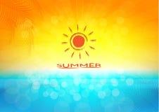 Illustration för sommarferier, vektorbakgrund Arkivbild