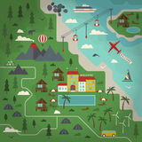 Illustration för sommarparadislägenhet Stock Illustrationer