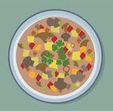 Illustration för soppaplatta Vektor Illustrationer