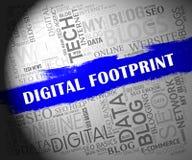 Illustration för spår för Cyber för Digital fotspårWebsite 2d vektor illustrationer