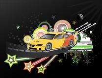 Illustration för sportbil Arkivbilder