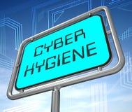 Illustration för struktur för data för Cyberhygien sund 3d royaltyfri illustrationer