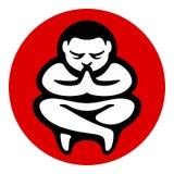 Illustration för symbol för yogazenmeditation Arkivbild