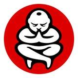 Illustration för symbol för yogazenmeditation Royaltyfria Foton
