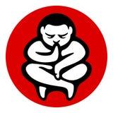 Illustration för symbol för yogazenmeditation Royaltyfri Foto