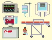 Illustration för symboler för sjukhus för medicin för ambulanssymbolsvektor vård- nöd- vektor illustrationer