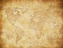 Illustration för tappningstilvärldskarta som baseras på bilden som möbleras av NASA royaltyfri illustrationer